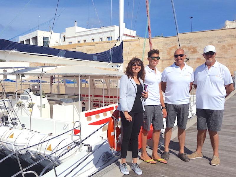 Crew Tageskatamaran Menorca