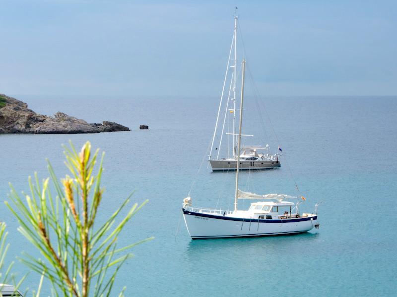 16m Segelyacht Palma vor Anker
