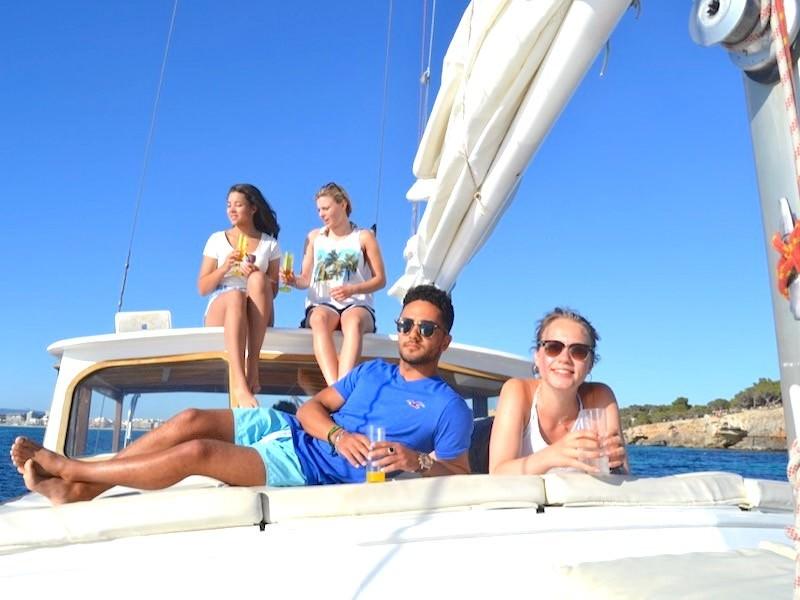 16m Segelyacht Palma Sonnendeck