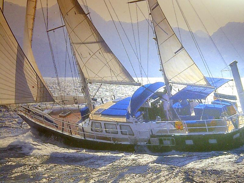 22mSegelyacht unter segel