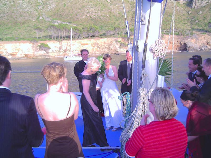 Hochzeit auf dem Katamaran