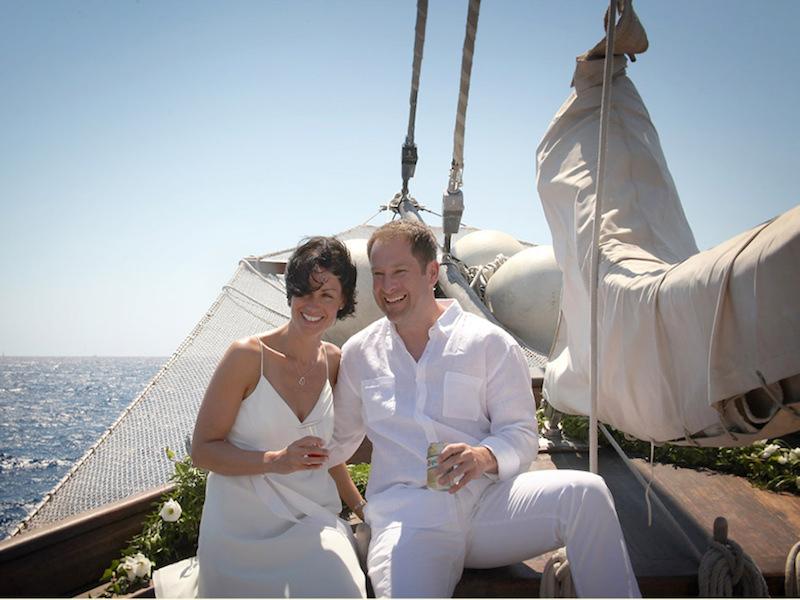 Hochzeit auf Segelschiff