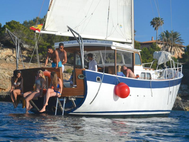 Segelyacht Palma vor Anker