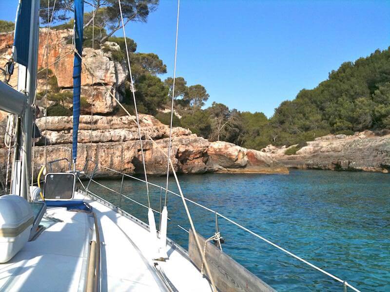 Ankern in Bucht Mallorca
