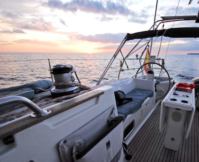 Sunset Segelyacht Palma