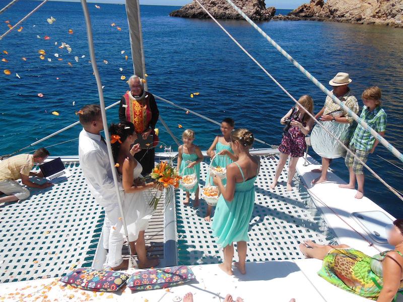Hochzeitsfeier Katamaran Mallorca