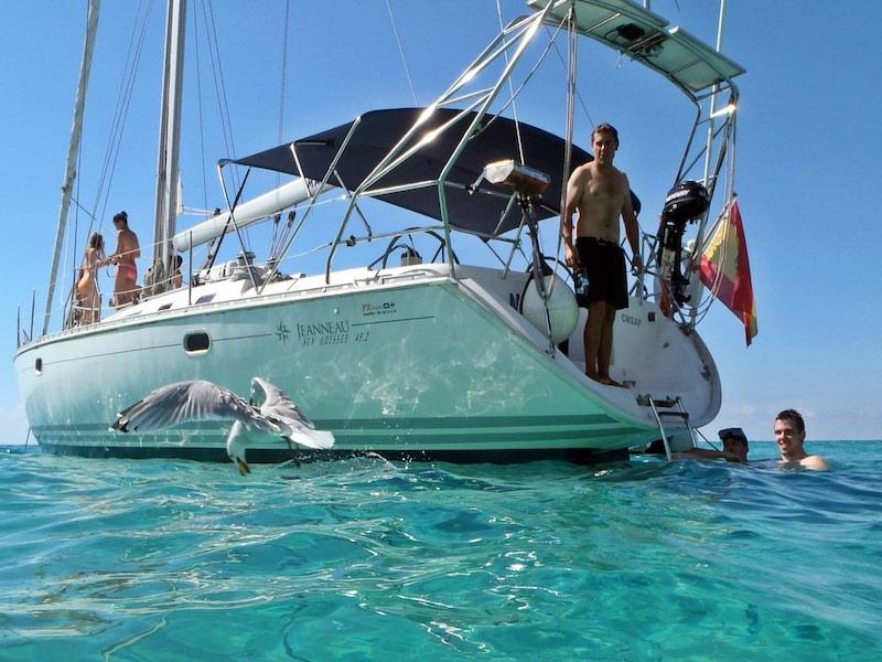 Ankerpause Segelyacht Mallorca
